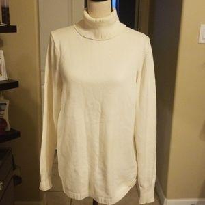 Gap Cream Turtleneck Sweater
